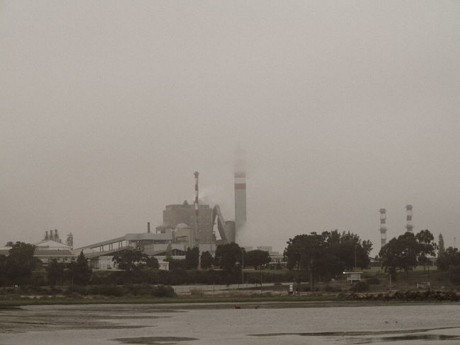 Industrial Refinery Factory Polution Cloud