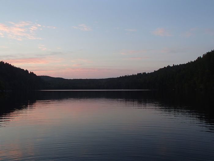 Coucher de soleil sur le Lac Jackson - Jackson Lake sunset (Mauricie) Water Sky Tranquility Tree Beauty In Nature Scenics - Nature Tranquil Scene Lake Reflection Sunset Nature Idyllic