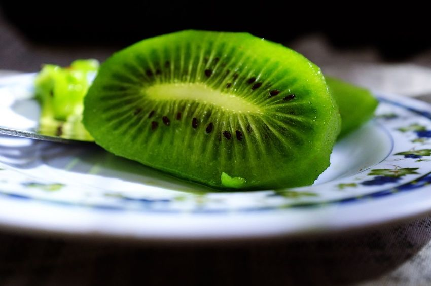 Close-up Cut Out Day Food Food And Drink Freshness Fruit Green Color Healthy Eating Indoors  Kiwi - Fruit No People Plate Ready-to-eat SLICE