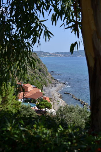 Italy: Cilento landscape Italy Sea Water Relaxing No People Summer Horizon Over Water Ocean Beach Seascape Woods Calm Tranquil Scene Coast Tranquility