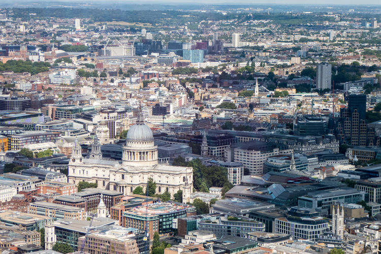 St Paul's Cathedral Aerial View Architecture Building Building Exterior Built Structure City Cityscape Crowd Crowded Day High Angle View History Nature Office Building Exterior Outdoors Place Of Worship Residential District Skyscraper Travel Travel Destinations View From The Shard