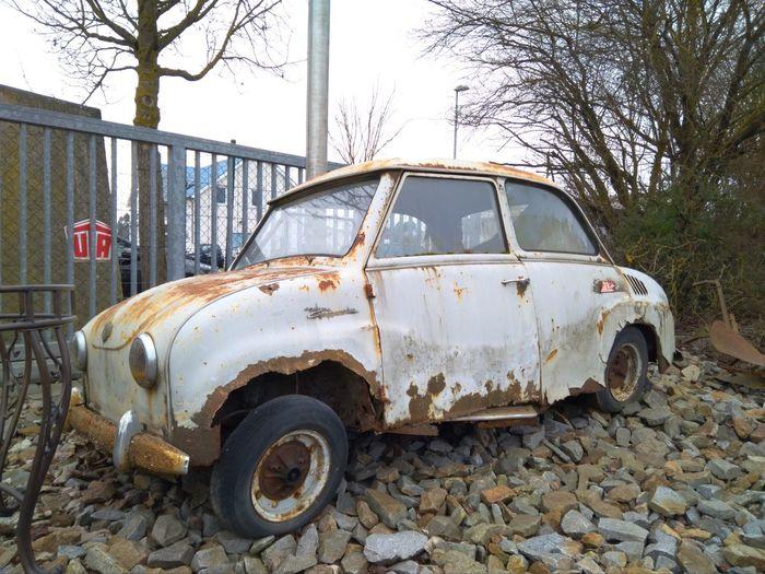 Goggomobil Rost Rusty Rusty Autos Rusty Car Oldtimer Rostig Car Transportation Abandoned Destruction Day Land Vehicle No People