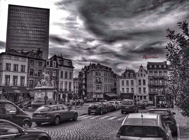 Brussels Black And White Street Photography StopNATO