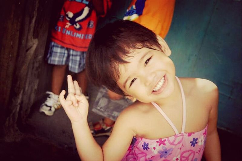 throwback, during FIESTA :)) My Cute Cousin I Miss Her Awww So Cute <3