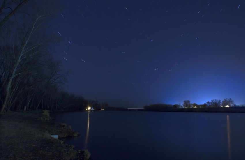 Astronomy Beauty In Nature Blue Calm Dark Glowing Idyllic Illuminated Landscape Light Majestic Moon Nature Night No People Non-urban Scene Outdoors Remote Scenics Sky The Great Outdoors - 2016 EyeEm Awards Tranquil Scene Tranquility Tree Water