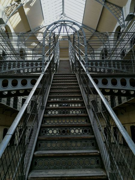 Low Angle View Steps And Staircases No People Architecture Indoors  Day History Travel Destinations Dublin, Ireland Built Structure KilmainhamGaol Prison Prison Cell