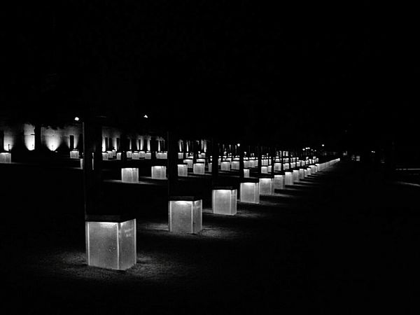 Oklahoma City National Memorial In Honor Of Memory Black And White Light In The Darkness Missing Someone Grief