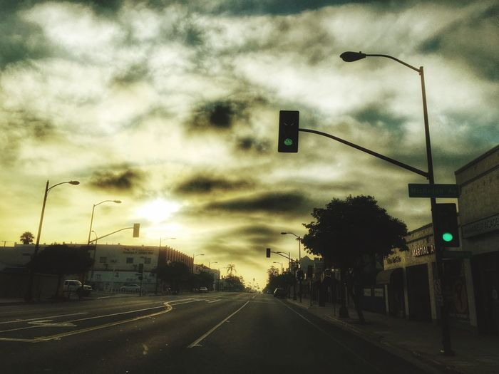 Morning Drive To Work Taking Photos Street View :-) From My Point Of View Taking Photos Colorado Pasadena  Yellow Sky