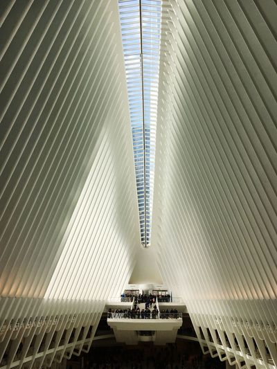 Urbanphotography Urban New York The Oculus Architecture Built Structure Pattern High Angle View Transportation Modern Indoors  City Real People Travel Ceiling Day Leisure Activity Lifestyles Staircase