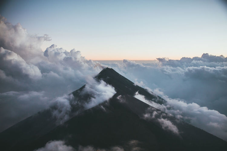 Guatemala Landscape_Collection Nature Nature Photography Travel Travel Photography Traveling Volcanoes Acatenango Beauty In Nature Fog Landscape_photography Mountain Nature Nature_collection Naturelovers No People Outdoors Scenics - Nature Sky Sunset Tranquil Scene Travel Travel Destinations Volcano