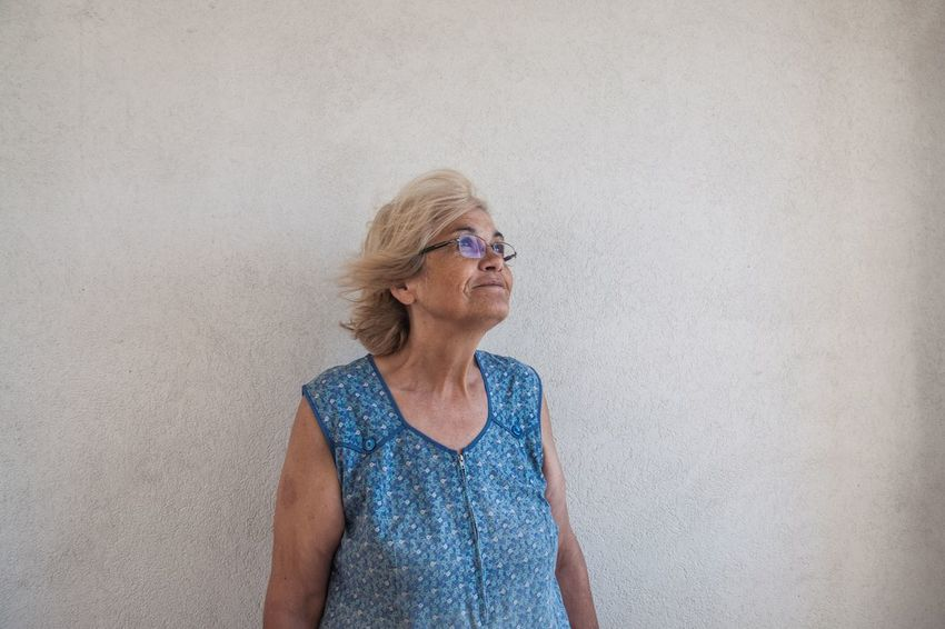 The Portraitist - 2017 EyeEm Awards Portugal Marvila Senior Adult One Person Senior Women Eyeglasses  Only Women Smiling Happiness Real People One Woman Only Blond Hair Women Indoors  Portrait Day Adult People Adults Only