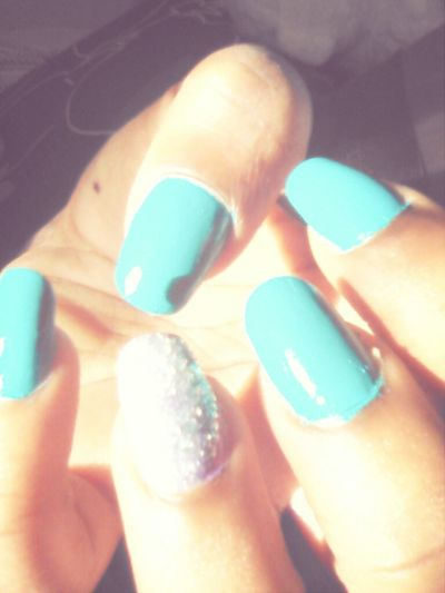 , Did My Own Nails .. They Turned Out Pretty ((; ♥