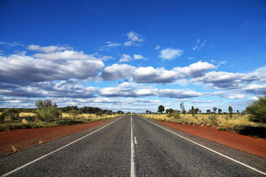 Highway to Uluru in Australia Australia Outback Road Asphalt Clouds Clouds And Sky Highway No People