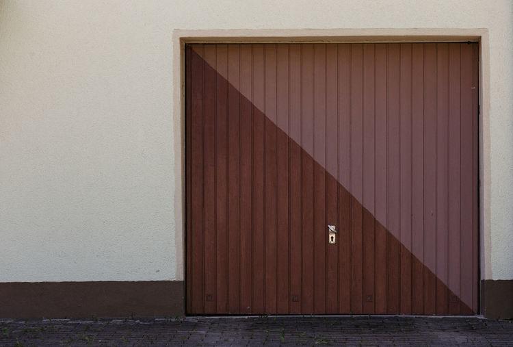 View of brown door on wall