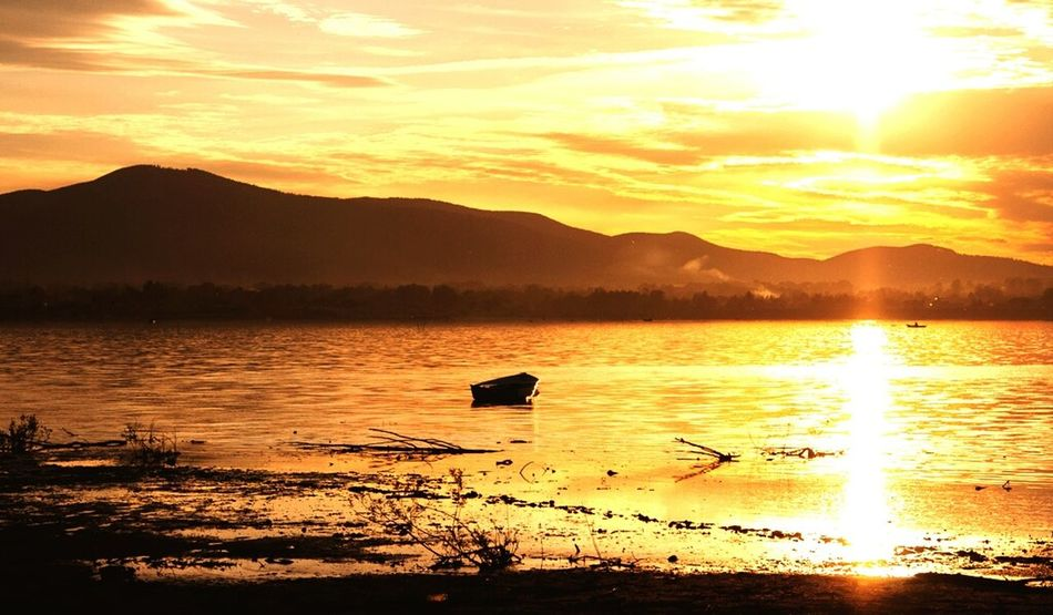 Canon Canonphotography Canon50D Lake Water Sun Capture The Moment Lakezywieckie Jezioro żywieckie Sunset