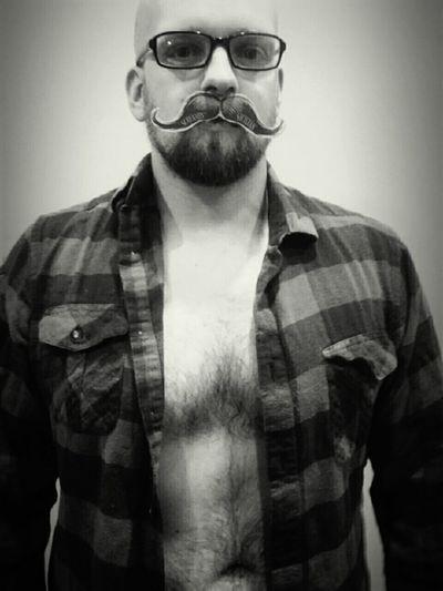 Sup Mustache Manly  Manlyman Contrast Shadows Blackandwhite Testosterone Oldschool Bald Glasses Handsome