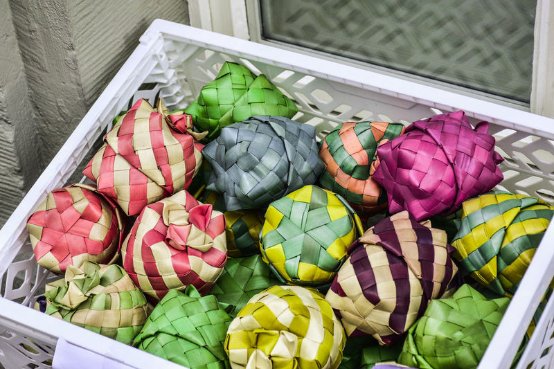 multicolor handicraft work Close-up Day Food And Drink Freshness Handicraft Work High Angle View Multi Colored No People