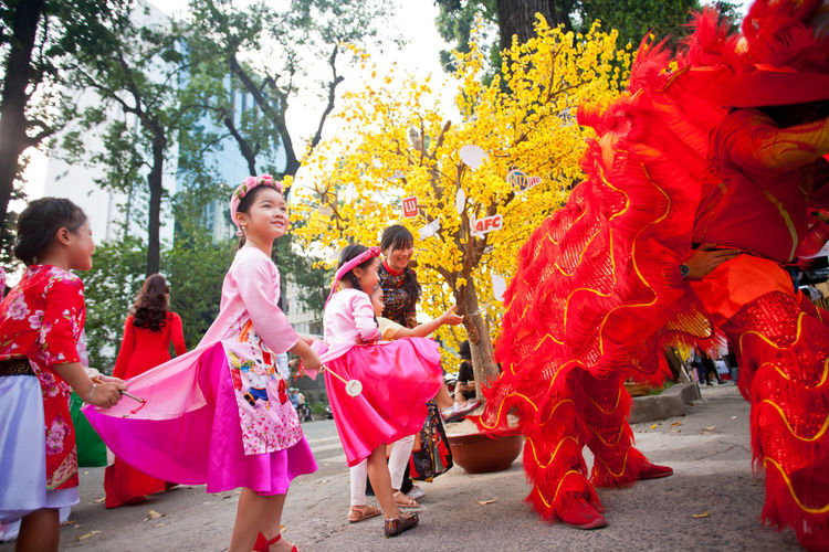 Xuân Về Sping Color Day Leisure Activity Medium Group Of People Nature Outdoors People Real People Streetphotography