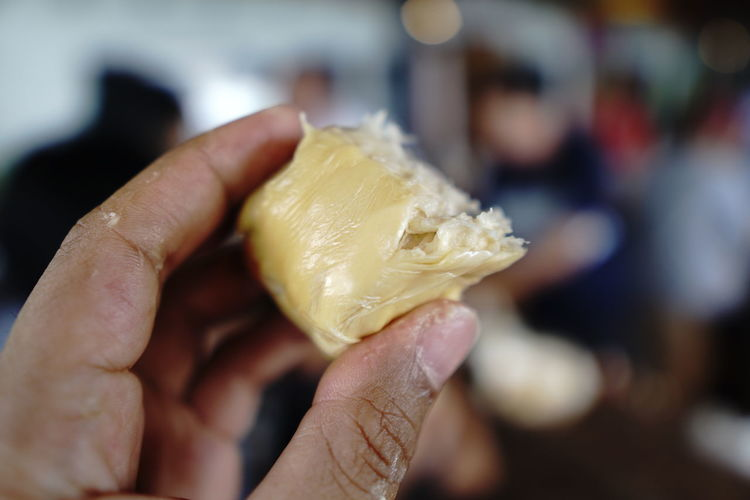 Durian fruit in your hand