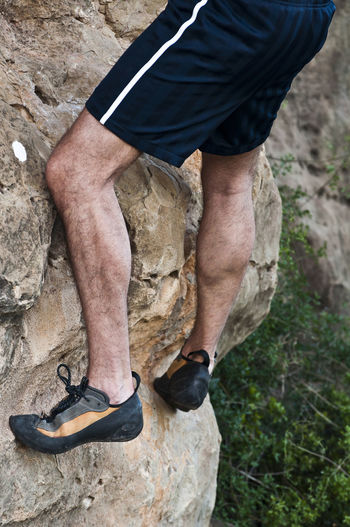 Climbing Climbing A Mountain Exercising Going Up Happy Time Legs Man No People Sport Sports Photography Strong