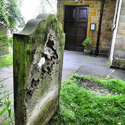 Graveyard  Beauty  I Have Never Seen A Gravestone So Worn  Away  :-)