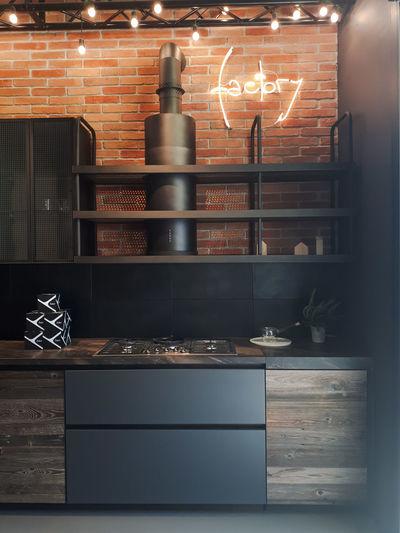 Cucine Interior Design Isaloni Industrial Illuminated
