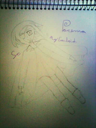 fanloid criada por mim *u* Fanloid Original Drawing Original Art