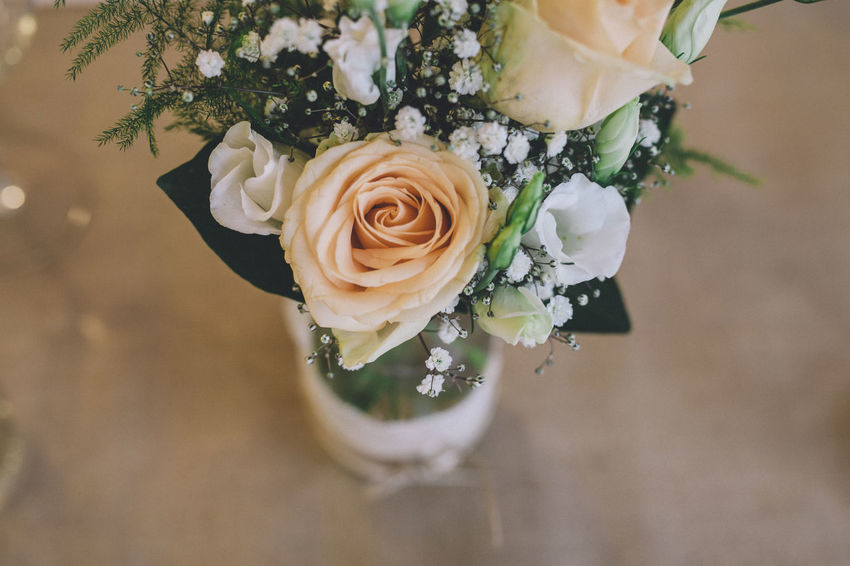 Blooming Blossom Botany Bouquet Close-up Crème Flower Flower Head Focus On Foreground Fragility Freshness Growth In Bloom No People Petal Plant Rose - Flower Roses Selective Focus Table Vase Vase Of Flowers VSCO