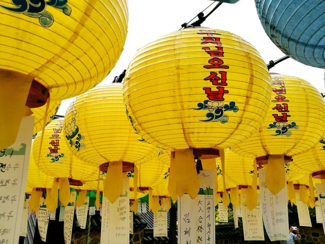 Lanterns in Korean Temple on Buddah's day Lantern Religion Cultures Outdoors Temple Korea Bulguksa Temple Gyeongju Yellow People Wishes HuaweiP9 Huawei P9 Photos Huaweiphotography Religion And Tradition Lighting Equipment Chinese Lantern 부처님오신날 부처님 ASIA Buddah Buddism Temple Buddism