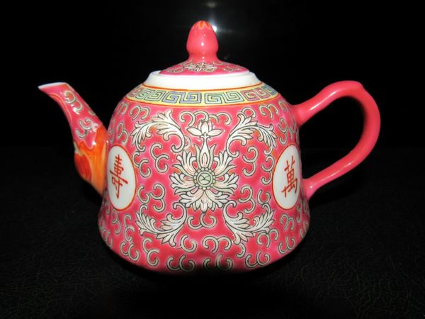 Black Background Cultures Teapot Porcelain  Red No People Indoors  The Week On EyeEm EyeEmNewHere Close-up