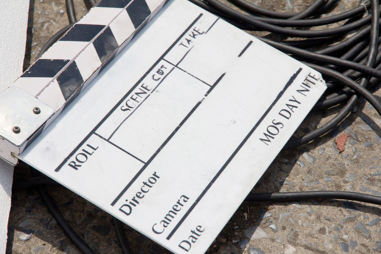 Advertising Film Equipment Filming Studio Broadcast Broadcasting Clapper Board Clapperboard Film Industry Film Slate Filming Location Movie Clapper Board Photography Themes Studio Photography Studio Shot