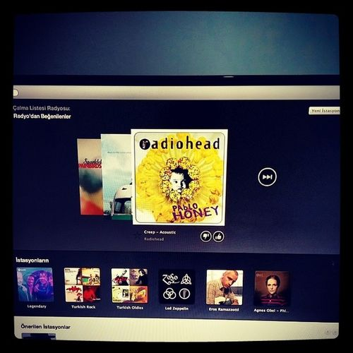 Kahvalti niyetine Spotify Eddievedder Farbehind Radiohead creep