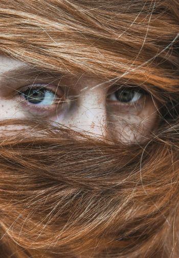 """Ashamed"" Eyes Portrait Color Portrait Girl Redhair Self Portrait"