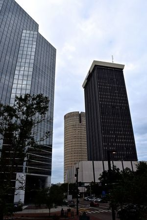My City, Tampa, Florida on a cloudy Sunday Morning. Cloudy Morning Downtown Downtown District Florida Light And Shadow Little Sunshine Skycraper Tampa Tampa Bay Tampa Fl The City Light
