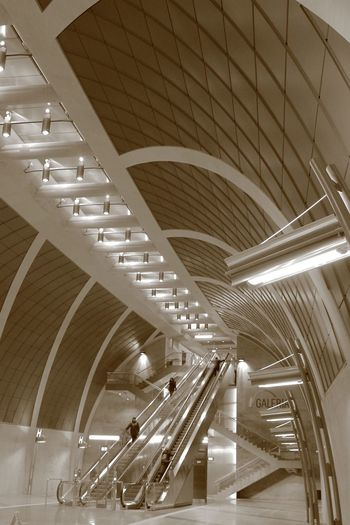 Tram Station Heumarkt Indoors  Ceiling Architecture Illuminated Staircase Railing Steps And Staircases Modern