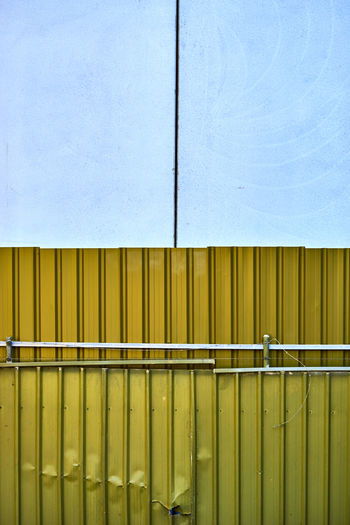 Close-up of golden corrugated iron