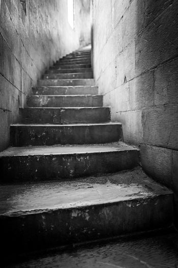 Steps leading towards old building
