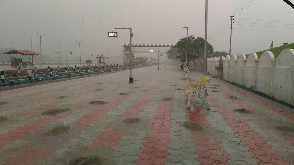 Rain Rainy Days Monsoon Railroad Station Platform Agartala Tripura Northeastindia Northeast India Wet Outdoors The Street Photographer - 2017 EyeEm Awards