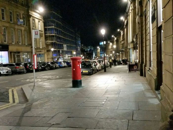 Night Architecture Built Structure Building Exterior City Illuminated No People Outdoors Grey Street Newcastle The Most Beautiful Street In Britain