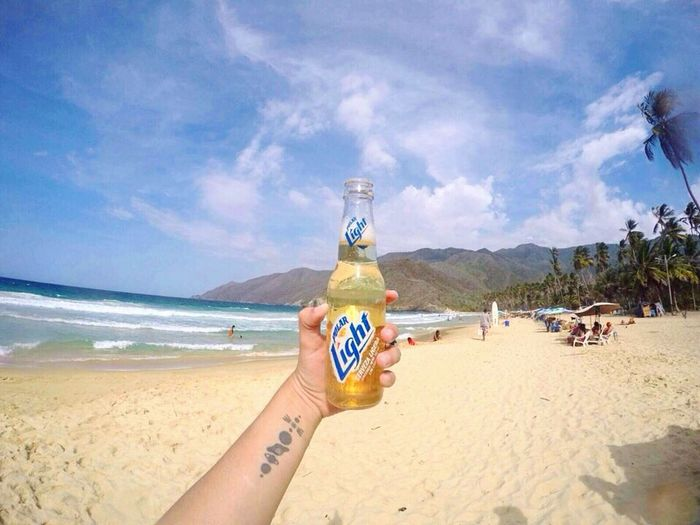 Choroní Polar Beer Beach Lifestyles Nature Water Mountain Beer Tattoo Venezuela