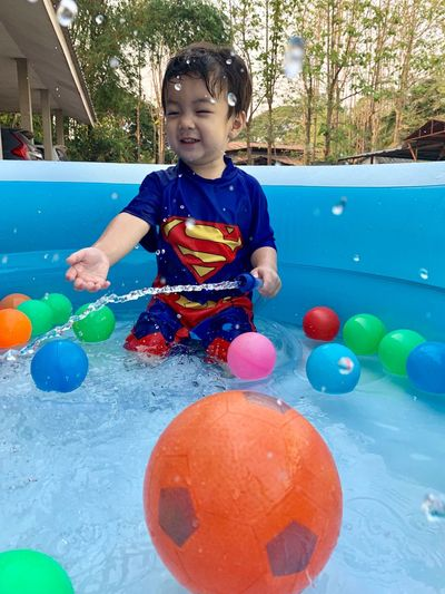 Childhood Child One Person Real People Front View Innocence Males  Boys Leisure Activity Day Men Cute Lifestyles Playing Nature Casual Clothing Toy Holding Ball Outdoors