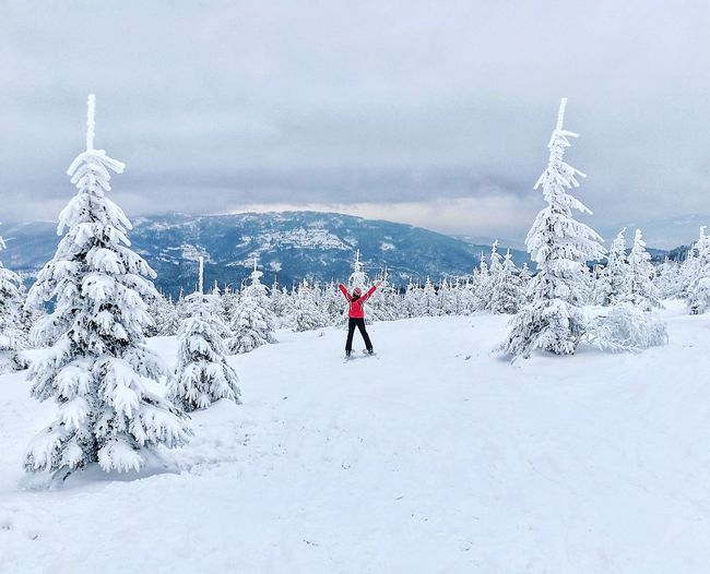 Snow Winter Cold Temperature Cloud - Sky Nature Day Beauty In Nature Mountain Snowing Skiing Ski First Eyeem Photo