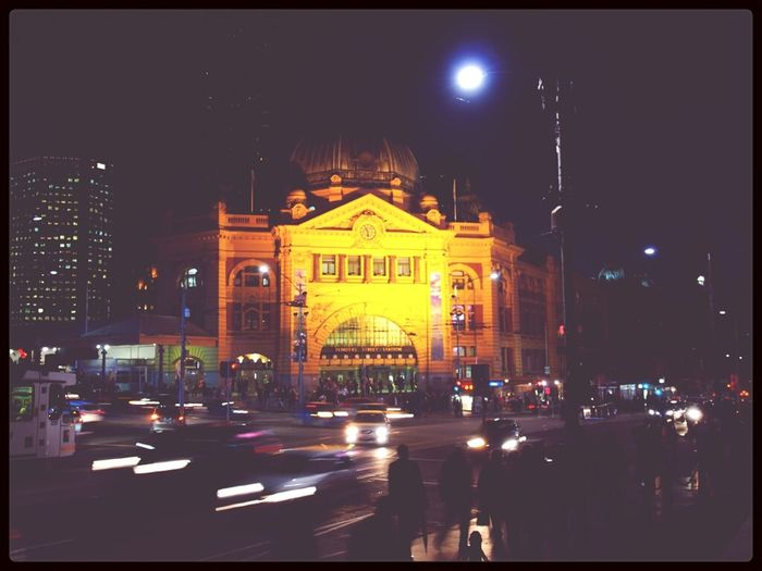 Night Lights Flinders St #Melbourne Night View