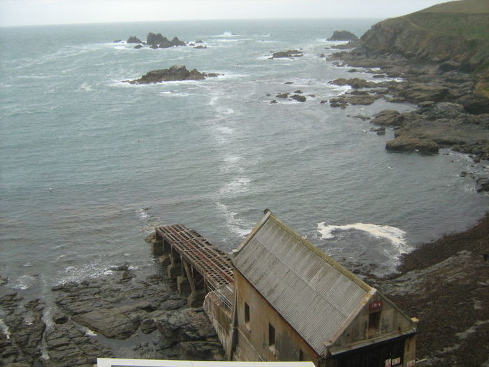 Lifeboat station on lizard point in cornwall