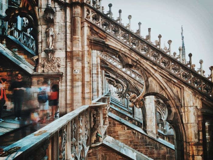 Blurred Motion Of Tourist At Milan Cathedral