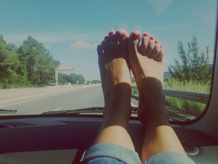 Way to the Costa Brava . Enjoying Life Summertime Beach On The Road Summer Views
