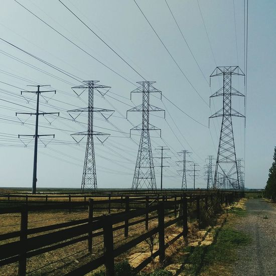 Power lines and towers along Farmington trail