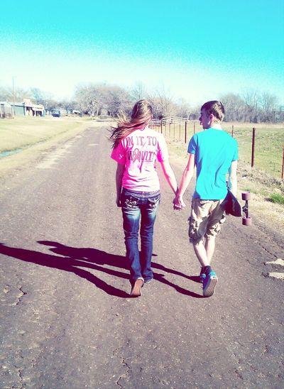 walking with Allen <3
