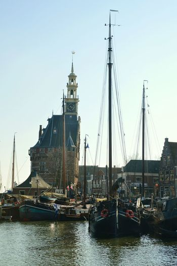 Harbor Old City Streets Hoorn Netherlands Sailboat Ships Fishing Boat Cityscape Cityscapes Travelingtheworld  Travel Photography Traveling Spring Is Here First Day Of Spring Blue Sky Fishing Port Port Old Buildings 16th Century V.o.c.