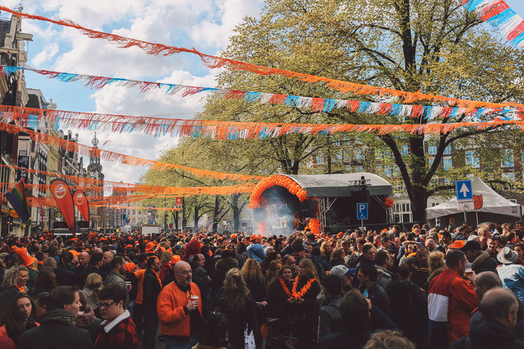 2017 Amsterdam Celebrating Celebration Concert Holiday Koningsdag National Day Orange Outdoors Party Spring Stage Street